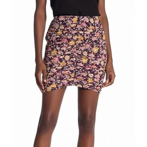 Free Press Ruched Floral Skirt NWT